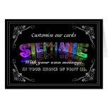Stephanie - nombre en la tarjeta de felicitación d