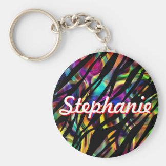 Stephanie Personalized Colorful Keychain