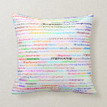 Stephanie Text Design II Throw Pillow