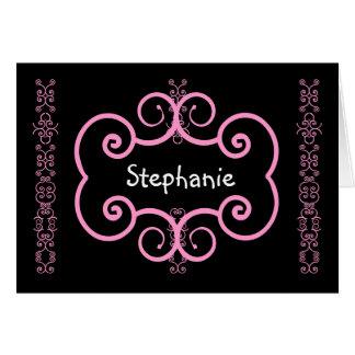 STEPHANIE - Thank You Bridesmaid Pink Art Deco Card