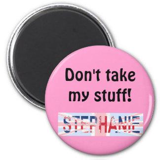 Stephanie, Union Jack design 2 Inch Round Magnet