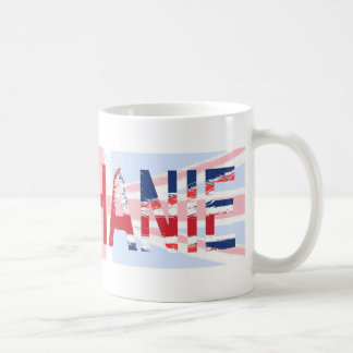 Stephanie, Union Jack design Classic White Coffee Mug