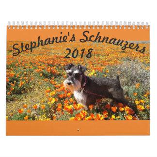 Stephanies Schnauzers 2018 Calendar