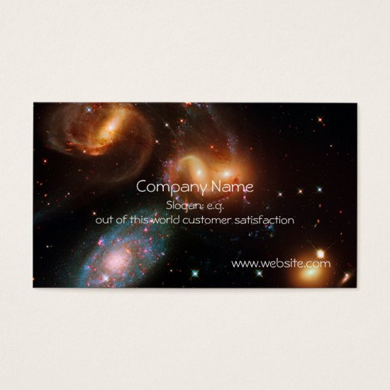 Stephans Quintet deep space star galaxy cluster Business Card