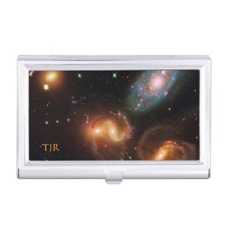 Stephans Quintet deep space star galaxy cluster Business Card Case