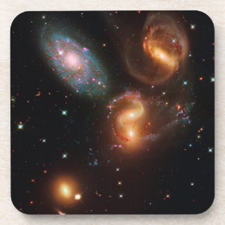 Stephans Quintet deep space star galaxy cluster Beverage Coasters