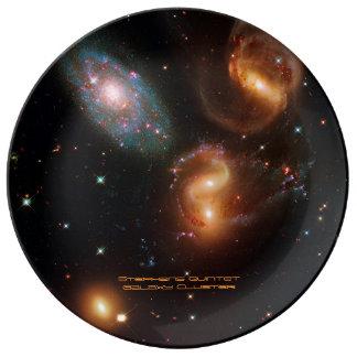 Stephans Quintet deep space star galaxy cluster Porcelain Plate