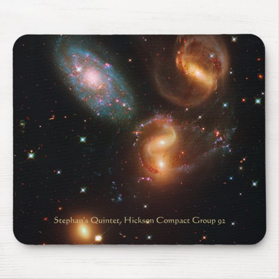 Stephans Quintet deep space star galaxy cluster Mouse Pad
