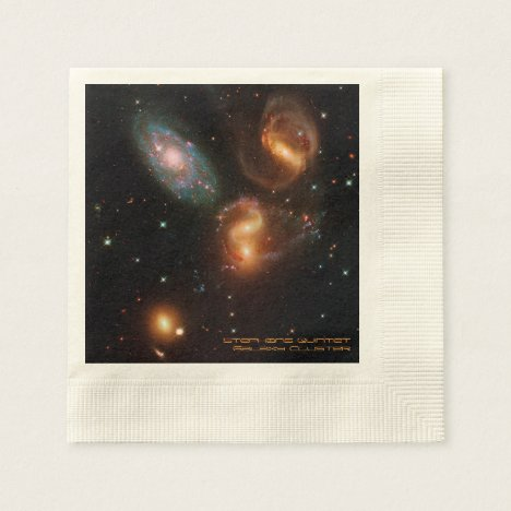 Stephans Quintet deep space star galaxy cluster Napkin