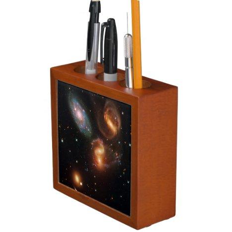 Stephans Quintet deep space star galaxy cluster Pencil/Pen Holder