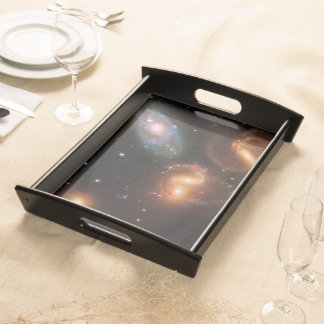 Stephans Quintet deep space star galaxy cluster Service Tray