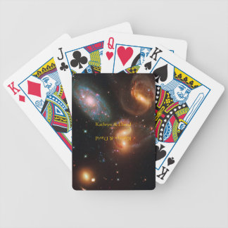 Stephans Quintet deep space star galaxy cluster Bicycle Playing Cards