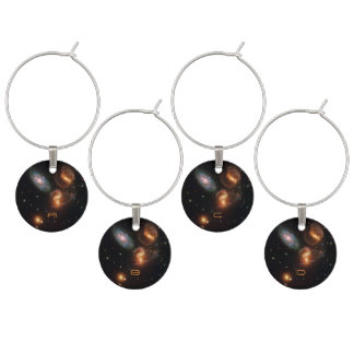 Stephans Quintet deep space star galaxy cluster Wine Charm