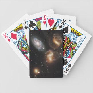Stephan's Quintet Galaxies (Hubble Telescope) Bicycle Playing Cards