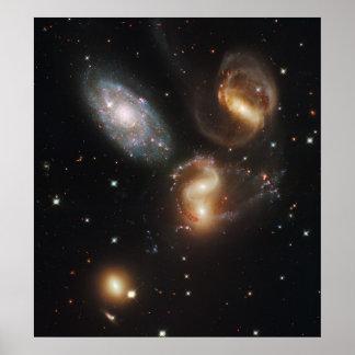 Stephan's Quintet Galaxies (Hubble Telescope) Posters