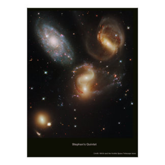 Stephan's Quintet Poster