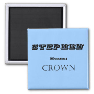 Stephen 2 Inch Square Magnet