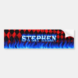 Stephen blue fire and flames bumper sticker design