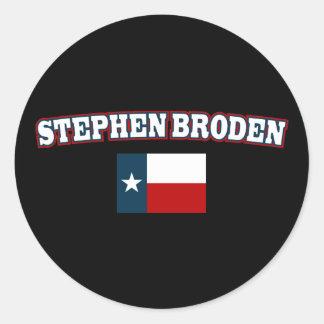 Stephen Broden para Tejas Pegatina Redonda