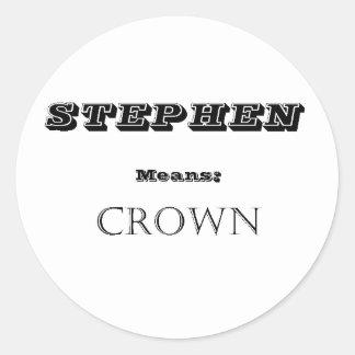 Stephen Classic Round Sticker