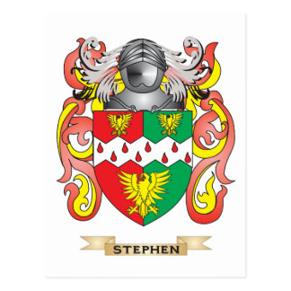 Stephen Coat of Arms (Family Crest) Postcard