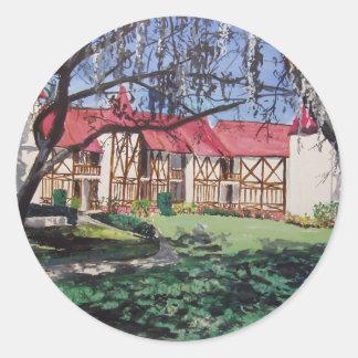Stephen Condo WaterColor Classic Round Sticker
