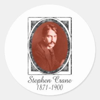 Stephen Crane Classic Round Sticker