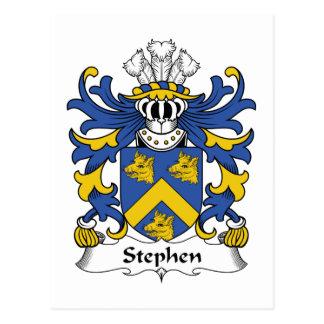 Stephen Family Crest Postcards