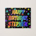 "[ Thumbnail: ""Stephen"" First Name, Fun ""Happy Birthday"" Jigsaw Puzzle ]"