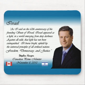 Stephen Harper habla sobre Israel 2 Alfombrilla De Ratón