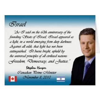 Stephen Harper habla sobre Israel Tarjeta