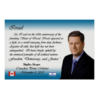 Stephen Harper habla sobre Israel Poster