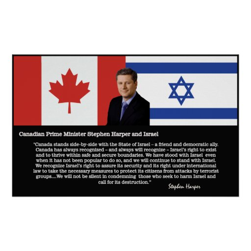 Stephen Harper On Israel #1 Poster
