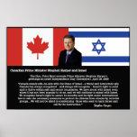 Stephen Harper, P.M. Canadá - ayuda para Israel Impresiones