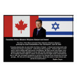Stephen Harper, PM Canada - Support For Israel Poster