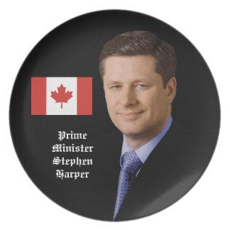 Stephen Harper - primer ministro canadiense Plato De Comida