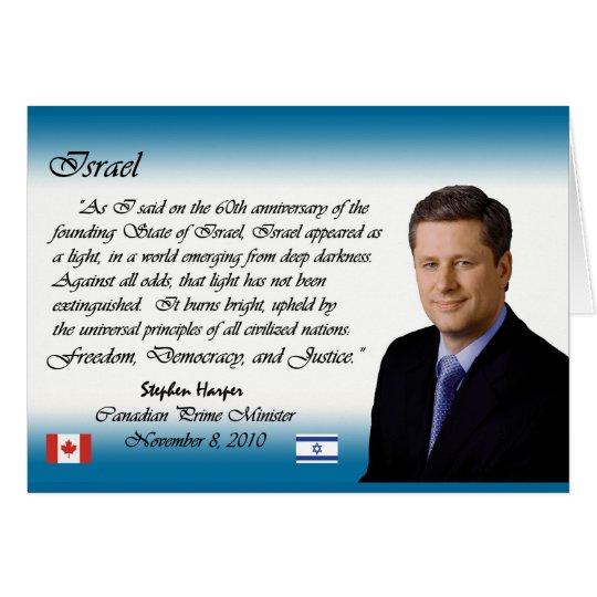 Stephen Harper Speaks About Israel Card