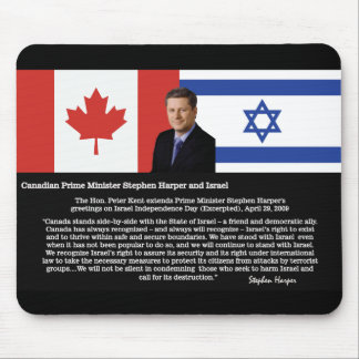 Stephen Harper Speaks About Israel Mouse Pad