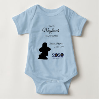Stephen Hopkins Mayflower Baby Bodysuit