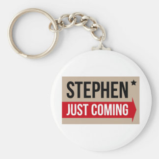 Stephen! Justing Coming Authentic Basic Round Button Keychain