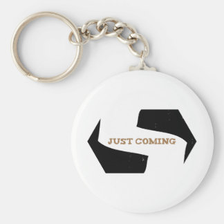 Stephen! Justing Coming Eroded Basic Round Button Keychain