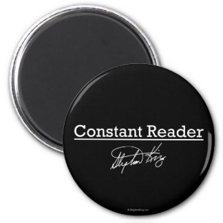 Stephen King, Constant Reader 2 Inch Round Magnet