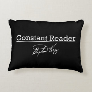 Stephen King, Constant Reader Decorative Pillow