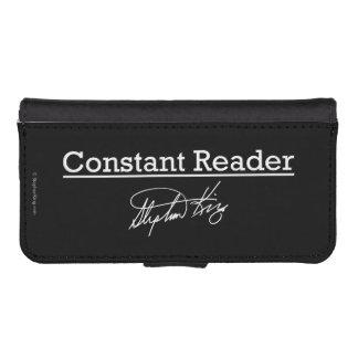 Stephen King, Constant Reader iPhone SE/5/5s Wallet Case