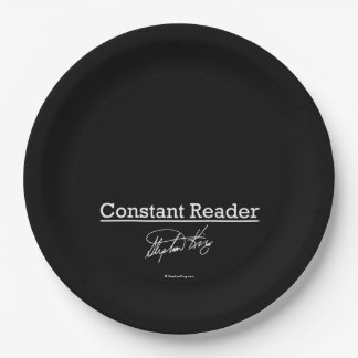 Stephen King, Constant Reader Paper Plate