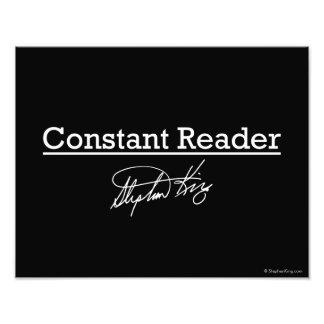 Stephen King, Constant Reader Photo Print