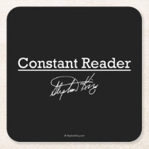 Stephen King, Constant Reader Square Paper Coaster