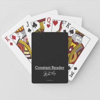 Stephen King, lector constante Cartas De Póquer