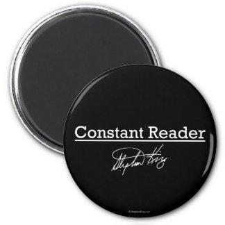 Stephen King, lector constante Imán Redondo 5 Cm
