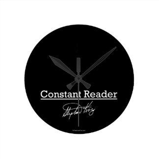 Stephen King, lector constante Reloj Redondo Mediano